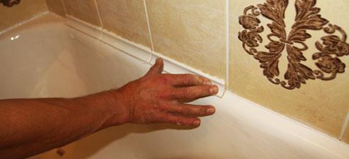 бордюр для ванной на плитку
