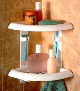 пластиковые полочки для ванной комнаты