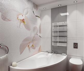 плитка для ванной цветы