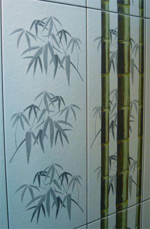 плитка в ванную бамбук